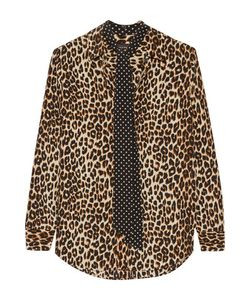 Equipment | Kate Moss Slim Signature Leopard-Print Washed-Silk Shirt