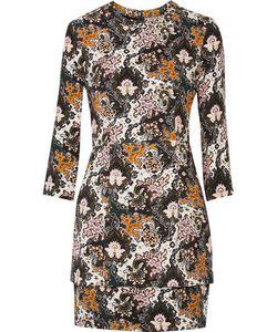 A.L.C.   A.L.C. Tordi Layered Printed Silk-Cady Mini Dress
