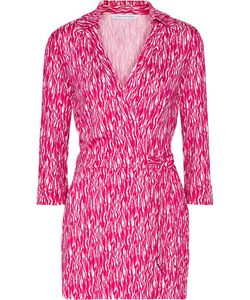 Diane von Furstenberg | Celeste Wrap-Effect Printed Silk-Jersey Playsuit
