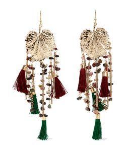 Rosantica   Tone Stone And Tassel Earrings One Size