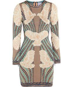 Hervé Léger | Jacquard-Knit Mini Dress