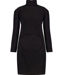 Dion Lee | Circle Cutout Merino Wool Turtleneck Sweater Midnight