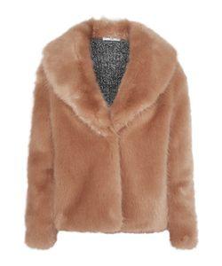 Opening Ceremony | Ribbed Knit-Paneled Faux Fur Jacket
