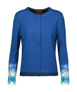 Missoni | Jacquard-Trimmed Knitted Cardigan