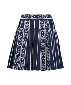 Peter Pilotto   Pleated Intarsia-Knit Mini Skirt