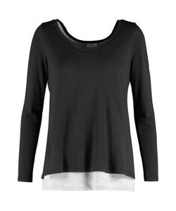 Vince | Two-Tone Layered Pima Cotton And Modal-Blend Top