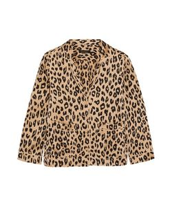 Equipment | Kate Moss Lake Leopard-Print Washed-Silk Pajama Shirt