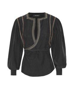 Isabel Marant | Lisa Embellished Washed-Silk Wrap Blouse
