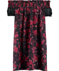Mother Of Pearl | Imogene Off-The-Shoulder Printed Silk-Satin Mini Dress