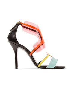Pierre Hardy | Pvc-Trimmed Neon Leather Sandals