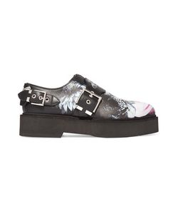 Alexander McQueen | Printed Leather Platform Loafers
