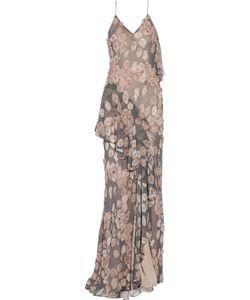Jason Wu | Appliquéd Printed Silk-Chiffon Gown