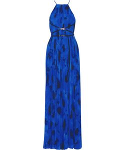 Michael Kors Collection | Pleated Printed Crepe De Chine Gown