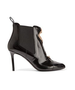 Maison Margiela | Paneled Patent-Leather And Mesh Ankle Boots