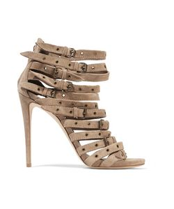 Giuseppe Zanotti | Eyelet-Embellished Suede Sandals