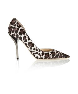 Jimmy Choo | Willis Leopard-Print Calf Hair Pumps