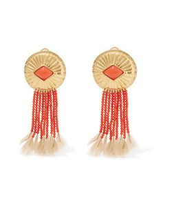 Aurelie Bidermann | Plated And Feather Clip Earrings One