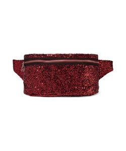 Mm6 Maison Margiela | Sequined Mesh And Leather Belt Bag