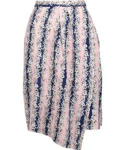 Carven | Asymmetricprint Crepe De Chine Skirt