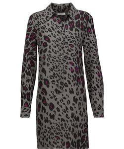 Equipment | Lucida Leopard-Print Washed-Silk Mini Dress