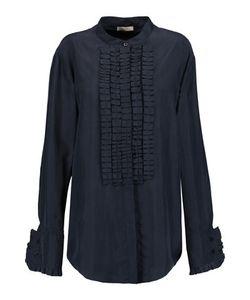 Nina Ricci | Ruffled Washed-Silk Shirt