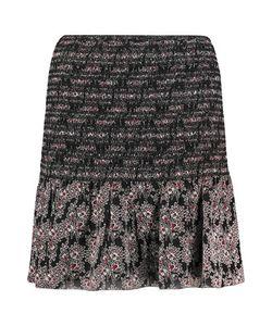 Derek Lam 10 Crosby   Shirred Printed Silk Mini Skirt