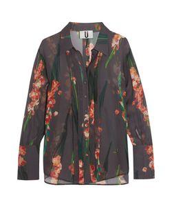 Topshop Unique | Selwyn Print Silk-Georgette Shirt