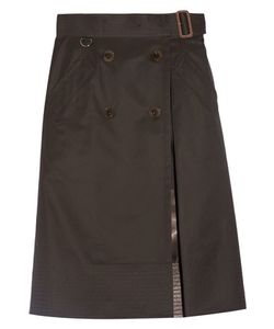 Sacai | Belted Cotton-Gabardine Skirt
