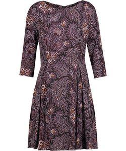 Suno | Pleated Printed Stretch-Silk Mini Dress