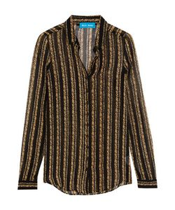 M.i.h Jeans | Evelyn Print Silk-Chiffon Shirt