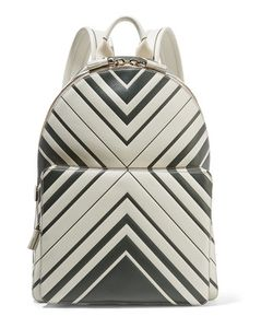 Anya Hindmarch   Printed Leather Backpack Off-