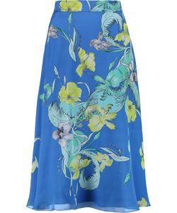 Matthew Williamson   Print Silk-Crepe Midi Skirt