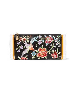 Edie Parker | Soft Lara Embroide Satin And Acrylic Box Clutch
