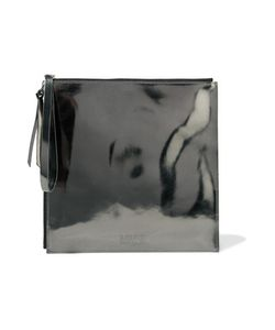 Mm6 Maison Margiela   Embossed Faux Leather Pouch
