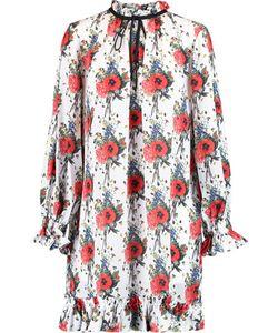 Mother Of Pearl | Lucille Ruffledprint Silk-Georgette Mini Dress