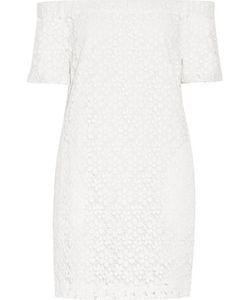 A.L.C.   A.L.C. Off-The-Shoulder Cotton-Guipure Lace Mini Dress