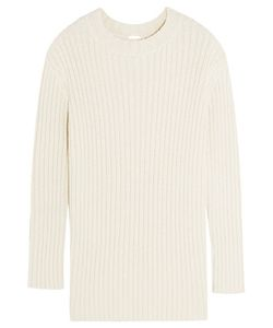 Adam Lippes | Ribbed Silk And Linen-Blend Sweater