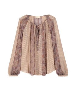 L'agence | Pearl Printed Fil Coupé Silk-Blend Blouse