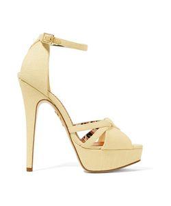 Charlotte Olympia | Iola Linen Platform Sandals