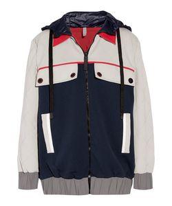 No Ka' Oi | Wai Paneled Shell And Quilted Ponte Hooded Jacket