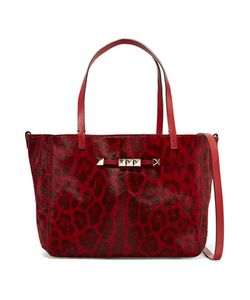 Valentino | Studded Leopard-Print Calf Hair-Effect Leather Tote