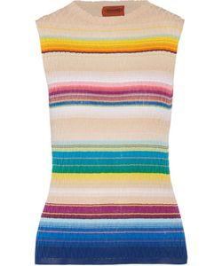 Missoni | Striped Crochet-Knit Cotton-Blend Tank