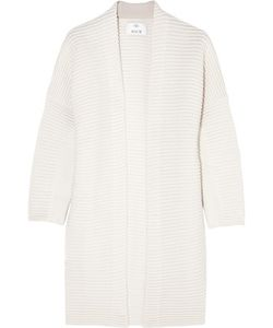 Allude | Ribbed Cashmere And Wool-Blend Cardigan
