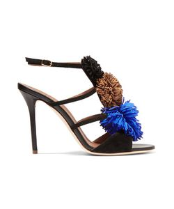 Malone Souliers | Sherry Pompom-Embellished Suede Sandals