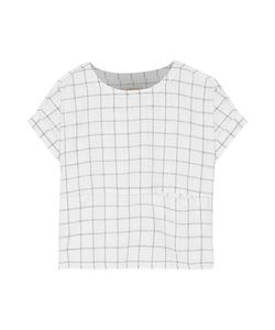 Current/Elliott | The Rolled Plaid Linen And Cotton-Blend Top