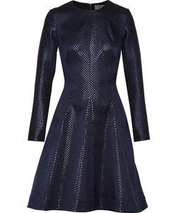 Lela Rose   Pleated Jacquard Dress