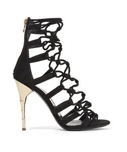 Balmain | Cutout Suede Sandals
