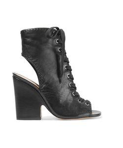 Schutz | Dudaflor Lace-Up Textured-Leather Sandals