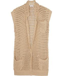 Brunello Cucinelli   Open-Knit Cotton-Blend Cardigan