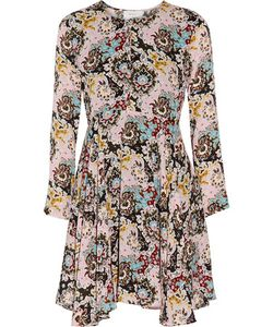 A.L.C.   A.L.C. Walter Pleated Printed Silk Crepe De Chine Mini Dress